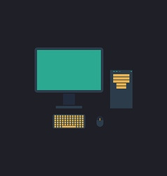 PC computer symbol vector image vector image
