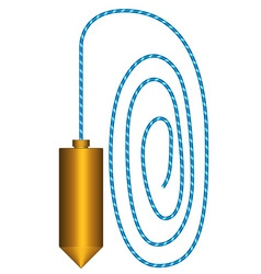 Plumb vector image vector image