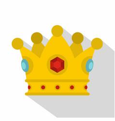 Precious crown icon flat style vector