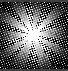 retro rays comic black white background vector image vector image