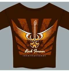 Rock fan tee shirt vector