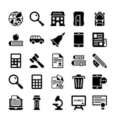 school and education icons 3 vector image vector image
