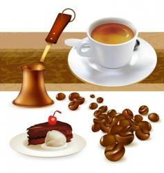 set of coffee vector image