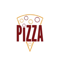 slice of pizza design template vector image vector image