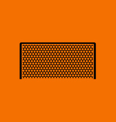 Soccer gate icon vector