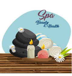Spa beauty and health poster vector