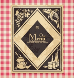 vintage menu or bookcover vector image vector image