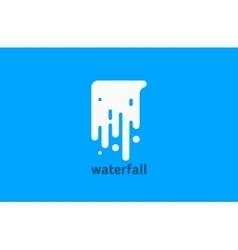 waterfall logo water logo creative logo design vector image