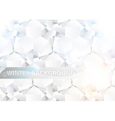 White diamonds background vector