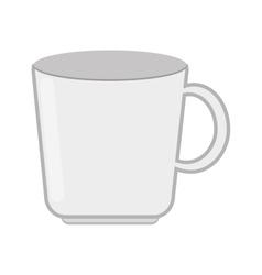 white mug icon vector image