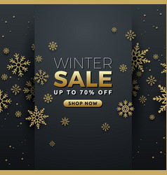 Winter sale background banner template design vector