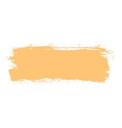 yellow paint brushstroke vector image vector image