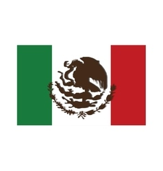 Mexican flag icon vector