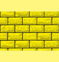 Realistic seamless texture of gold brick wall vector