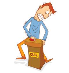 Enthusiast quiz participant vector