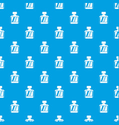 Jar of perfume pattern seamless blue vector