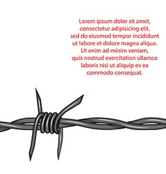 Barbed wire background fence isolated vector
