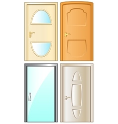 Modern isolated doors set vector