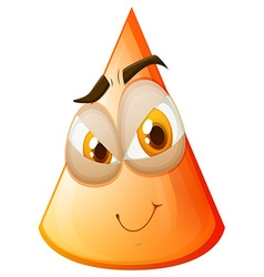 Orange cone with face vector
