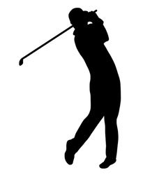 golfer silhouette vector image