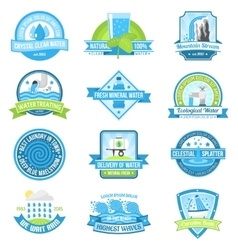 Water emblem set vector