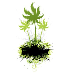 tropical vegetation vector image