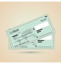 Payment with check design vector