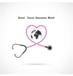 Breast cancer awareness logo design vector