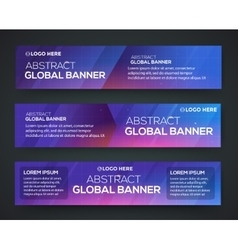 Abstract banner design vector image vector image
