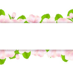 Apple Tree Flowers With Paper vector image vector image