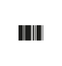 barcode icon linear symbol with thin outline the vector image
