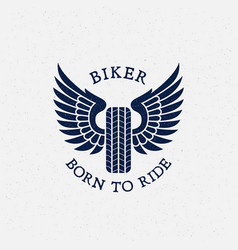 born to ride label vector image vector image