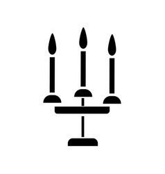 candles 3 candelabrum icon vector image