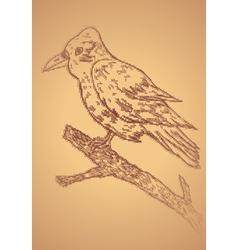 Crow Sketch2 vector image vector image