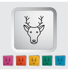 Deer icon vector