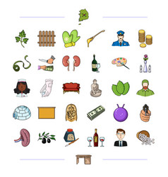 Furniture business medicine and other web icon vector