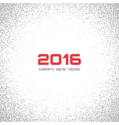 Gray - White Light New Year 2016 Snow Flake vector image vector image