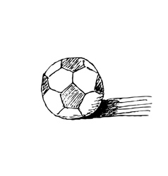 Hand-drawn soccer ball vector image