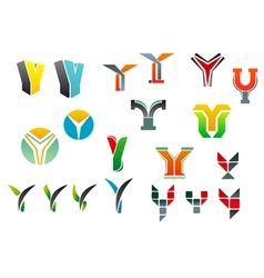 letter y alphabet symbols vector image