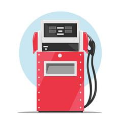Modern red fuel dispenser over white background vector image vector image