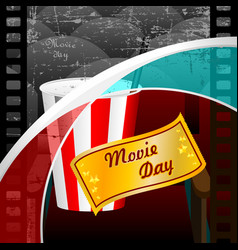 Movie day vector