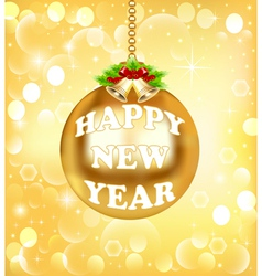 New year background gold color vector