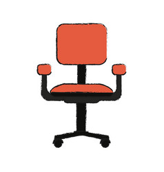 office chair isolated vector image vector image
