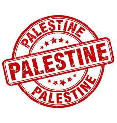 Palestine red grunge round vintage rubber stamp vector