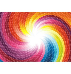 Rainbow swirl - abstract colorful background vector image vector image