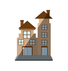 Real estate apartment building shadow vector