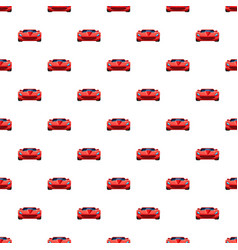 Red sport car pattern seamless vector
