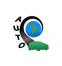 Road with the globe vector image vector image