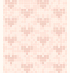 Rose heart pattern seamless square background vector