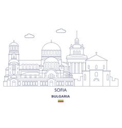 Sofia city skyline vector